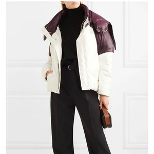 MAJE Brax Quilted Plum White Puffer Jacket Coat